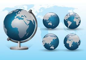 Set von Globus Vektoren