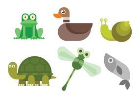 Freie Sumpf Tiere Vektor