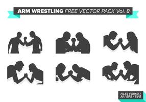 Arm wrestling kostenlos vektor pack vol. 8