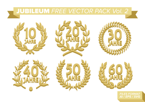 Jubiläum Free Vector Pack Vol. 2