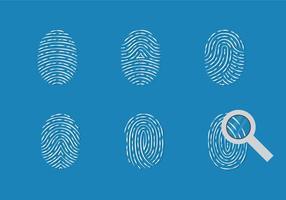 Diebstahl Fingerabdruck Vektor Set