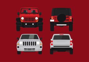 Jeep främre fri vektor