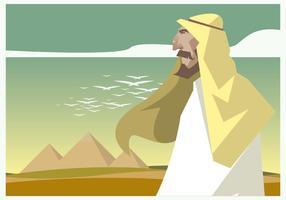 Pyramid och Egypten Män Vector