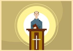 Talande pastor i lektorns vektor
