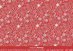 Röd jul vektor mönster