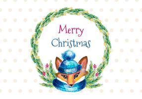 Gratis Vector vattenfärg julkort