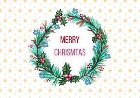 Gratis vektor julkrans i akvarell stil