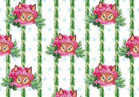 Cute Free Vector Hintergrund mit Fox