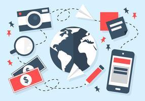 Free Business Travel Hintergrund Vektor
