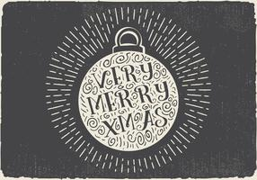 Gratis Vintage Hand Drawn Christmas Ball With Lettering