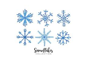 Akvarell Snowflakes Collection vektor