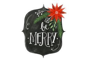 Akvarell jul bakgrund vektor