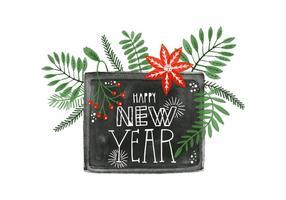 Aquarell Neujahr Hintergrund