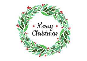Gratis julkrans vektor