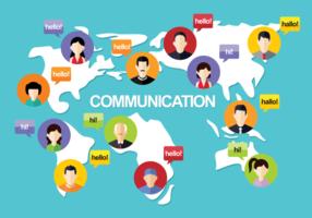 Comunication Vektor-Illustration