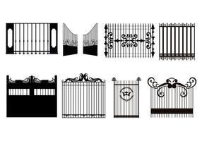 Freier dekorativer Gate-Vektor vektor