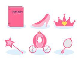 Cinderella storytelling vektor uppsättning