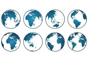Set von Globus Icons vektor