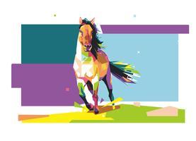 Häst - WPAP vektor
