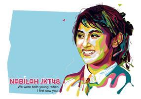 Nabilah JKT48 - Popart Porträt vektor