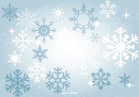 Vacker Blå Snöflinga Bakgrund