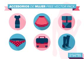 Accesorios de mujer kostenlos vektor pack