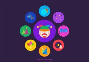 Free Vector Party Bevorzugungen Icons