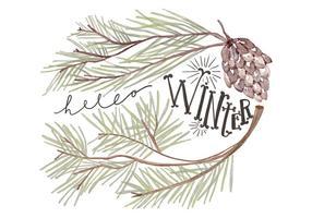 Vinter bakgrund vektor