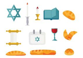 Gratis Shabbat Jewish Vector Illustration