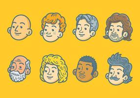 Kostenlose Personas Icons Vektor
