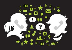 Kostenlose Comunication Vector Illustration