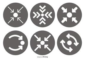 Treffen Pont Vektor Icon Sammlung