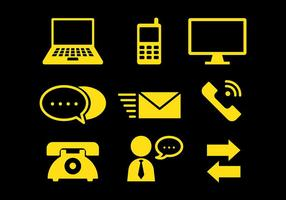 Kostenlose Comunication Icons Vector
