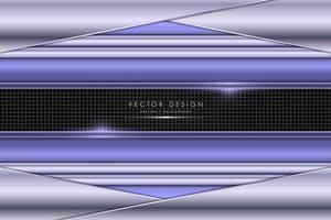 metallic lila vinklat lager metall design med kolfiber vektor