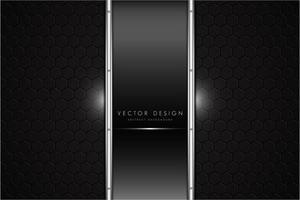 Metallic schwarz und grau mit modernem Design im dunklen Raum