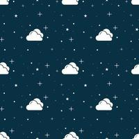 sömlös blå natthimelmönster