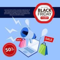 svart fredag banner perfekt för onlinebutik vektor