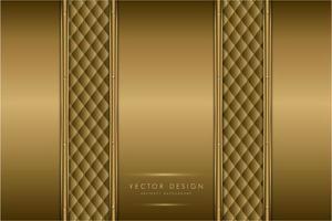 eleganta guldmetallpaneler med klädselstruktur vektor