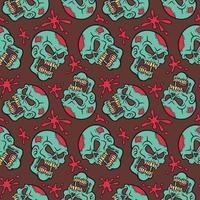 Zombie Sull und Blood Splat Muster