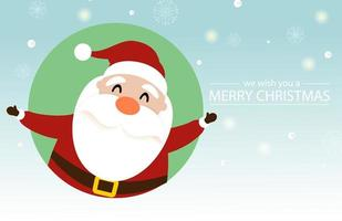 Weihnachten und Neujahr Design mit niedlichen Weihnachtsmann vektor
