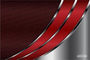 rot und grau metallisch gebogenes Design vektor