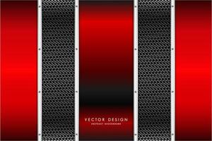metallisch rote vertikale Paneele über Kohlefasertextur