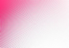 abstraktes rosa gepunktetes kreisförmiges Design vektor