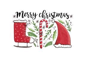 Freier Weihnachtshintergrund vektor