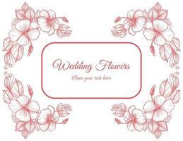 dekorative Hochzeit rosa Blumenkarte
