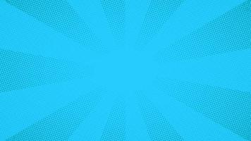 blå popkonst komiska halvton prickar bakgrund vektor