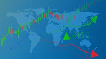 handel och finansiell affärsgraf diagram analys bakgrund vektor