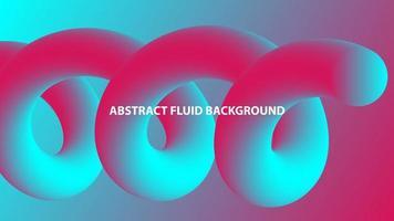 abstrakte Spiralflüssigkeitsform im rosa und blauen Farbverlauf vektor