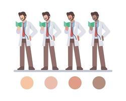 läser manliga läkare karaktärer