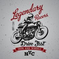 legendäres Racer T-Shirt Design
